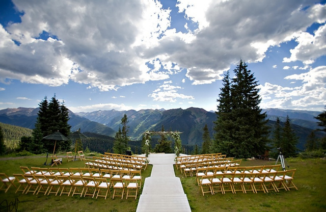 Aspen wedding planner little nell sweetly paired for Best colorado wedding venues