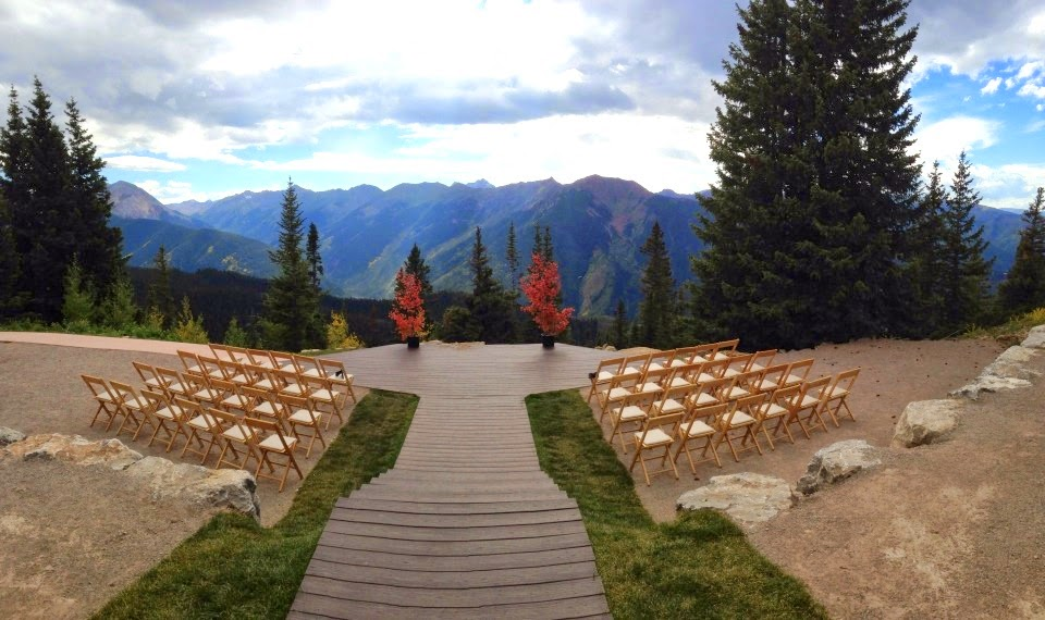 Aspen Wedding Planner Little Nell Deck Fall Mountain