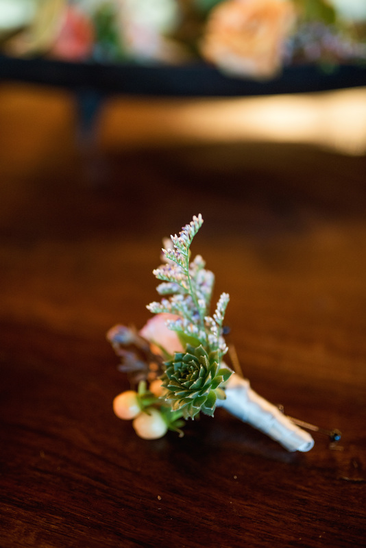 succulent boutonniere, pastel bridal bouquet, denver wedding planner, colorado day of coordinator