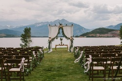 Aisle flowers, colorado wedding planner, colorado wedding ceremony, lake dillon Wedding