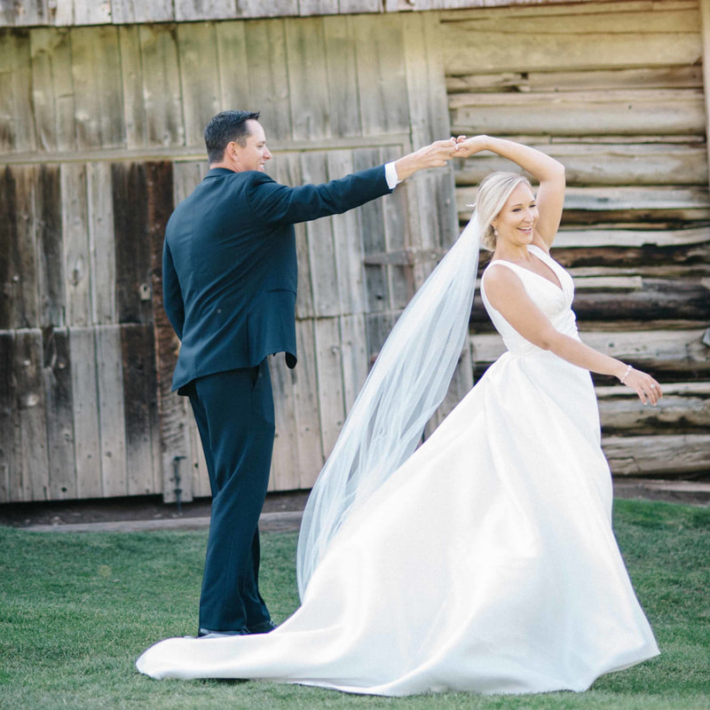 bride and groom dancing outside, beaver creek resort, mountain weddings, colorado wedding planner, vail wedding planners