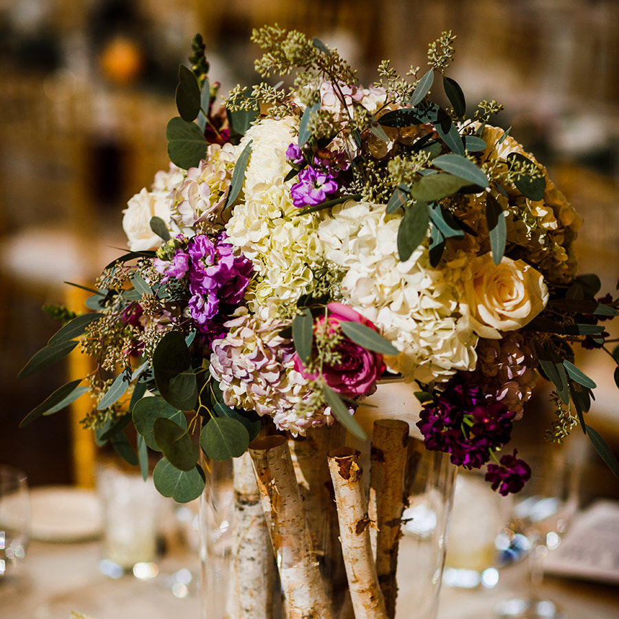 Vail wedding planner, fall wedding colorado, donovan pavilion wedding, tall centerpiece