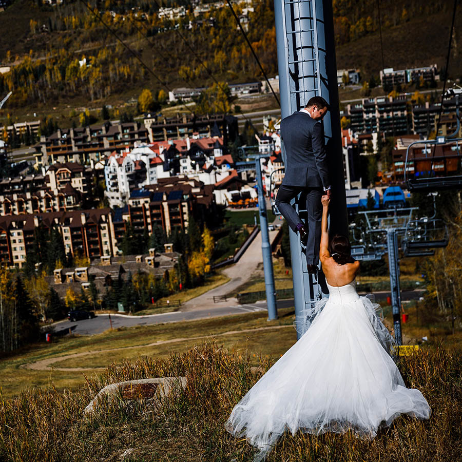Vail wedding planner, fall wedding colorado, donovan pavilion wedding, ski lift