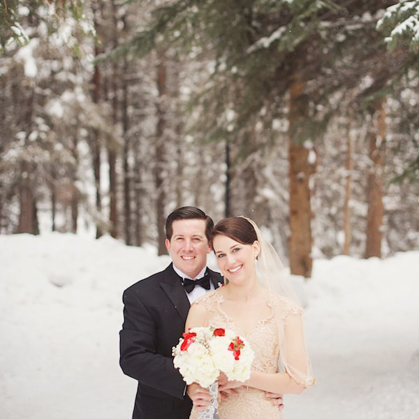 Bride and groom portrait, vail chapel, sonnenalp, mountain wedding, vail wedding planner, colorado wedding planner, sweetly paired, winter wedding inspiration