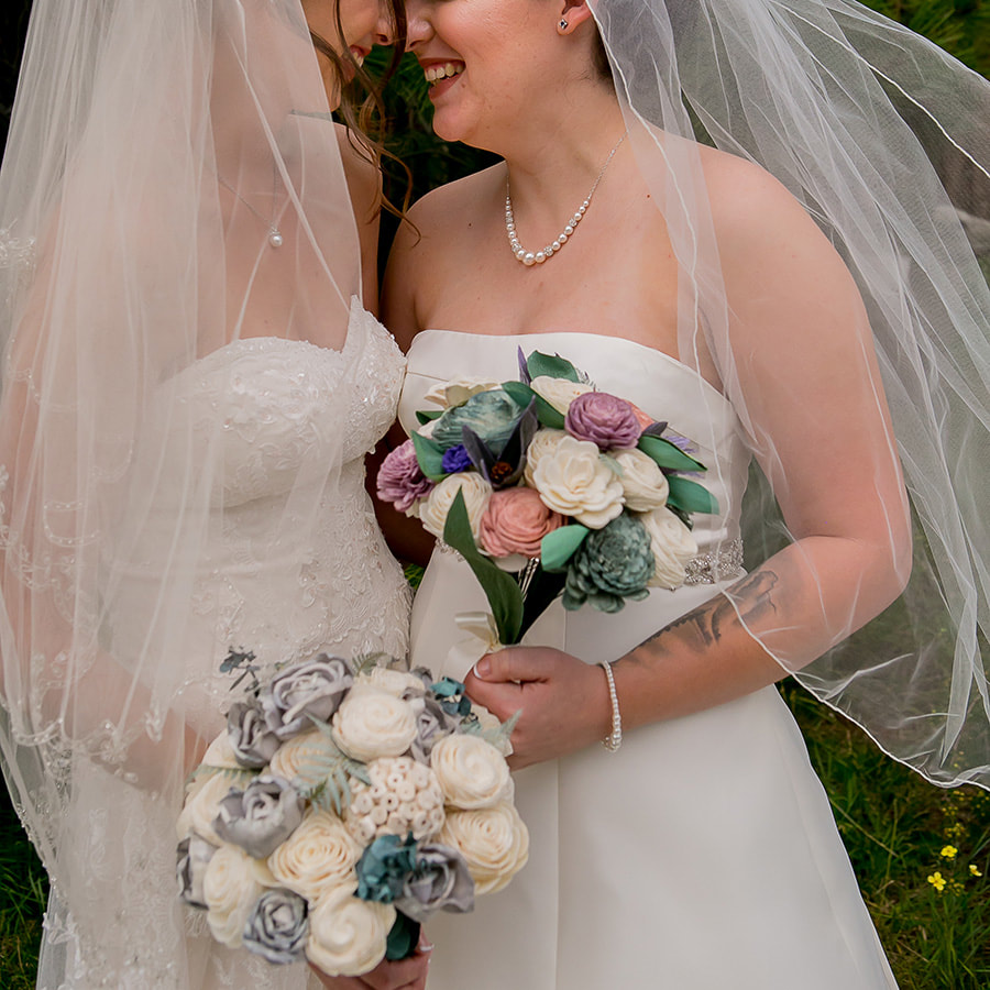 two brides, lgbt wedding, intimate bridal portrait, colorado wedding planners, sweetly paired