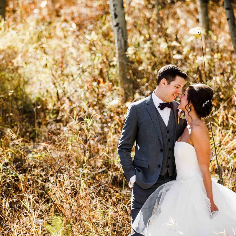 Vail wedding planner, fall wedding colorado, donovan pavilion wedding, bridal portraits