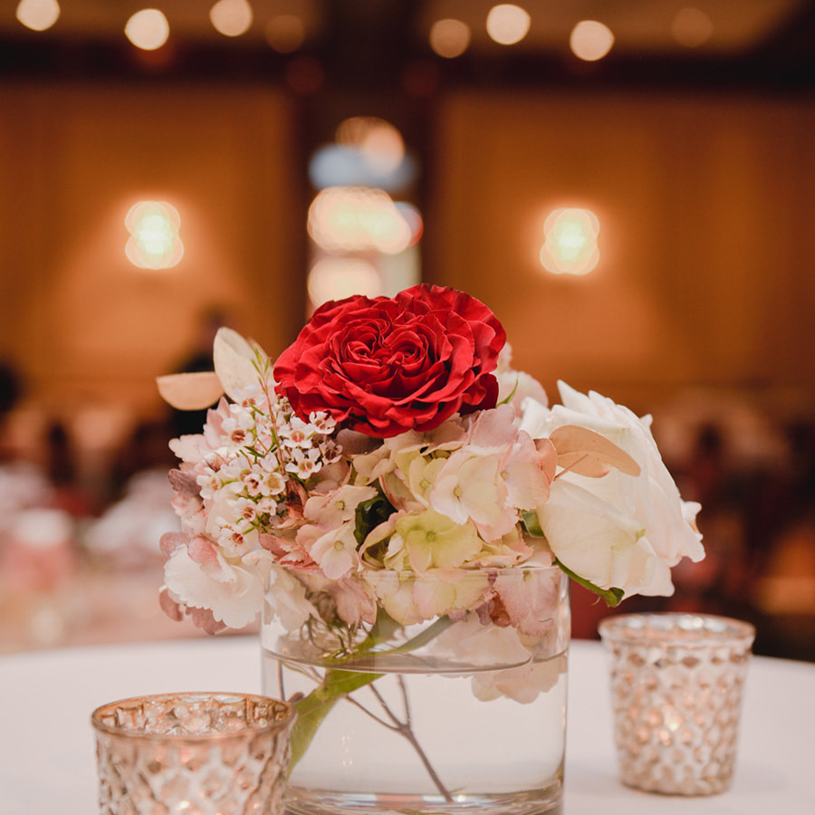 floral Centerpieces, gold and pink, reception detail photos, denver athletic club weddings, denver wedding planning, colorado wedding planner, destination wedding planner