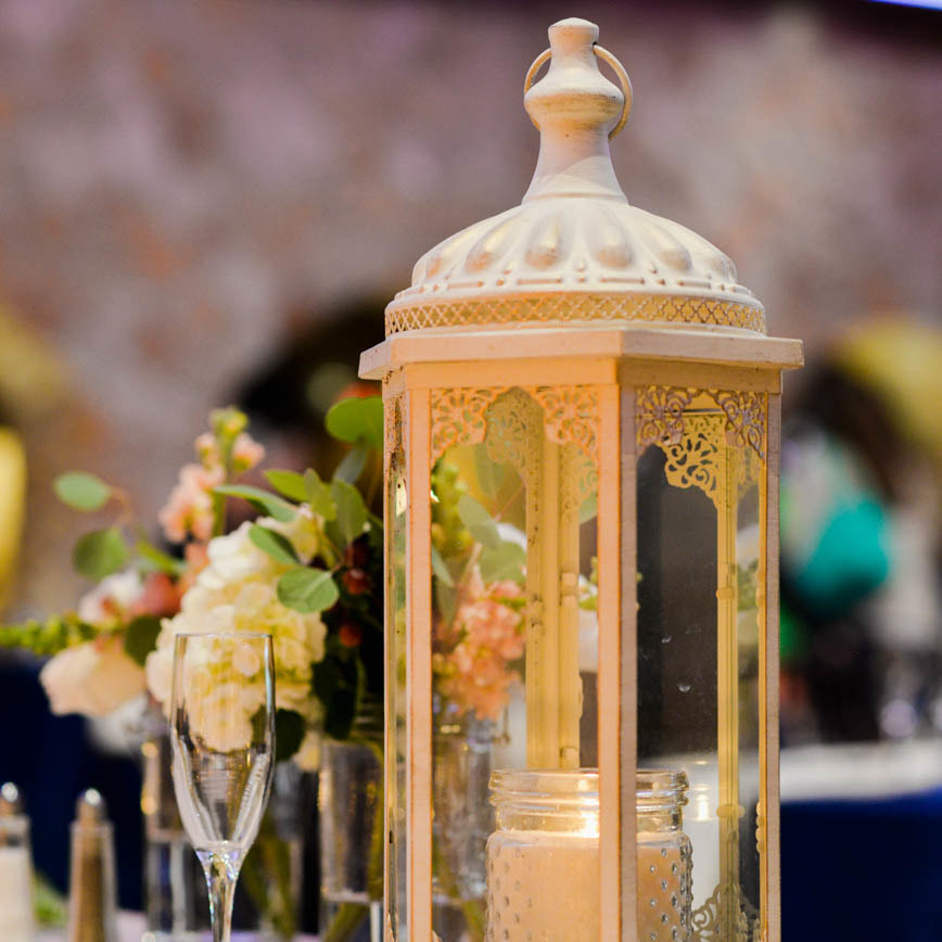 Reception venue, reception decor, table settings, baldoria on the water wedding venue, denver wedding inspiration, denver wedding planner, colorado wedding inspiration, sweetly paired wedding planning, gold lanterns