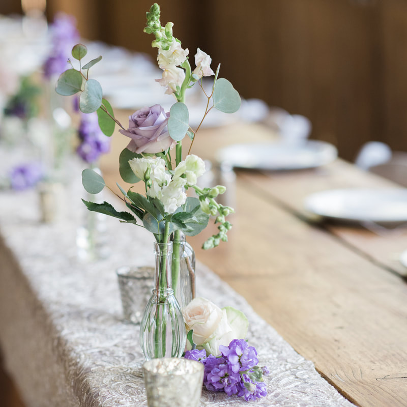 piney river ranch wedding reception, floral centerpieces, burlap and lace decor, lavender and cream wedding colors, mountain wedding inspiration, vail wedding planners, beaver creek wedding planning