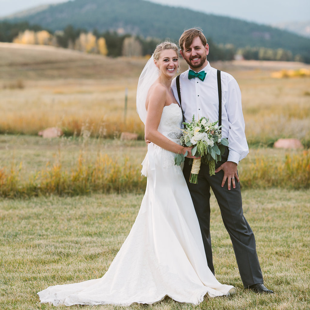 Bride and groom portrait, deer creek valley ranch, denver wedding planner, colorado wedding planner, sweetly paired, summer wedding inspiration