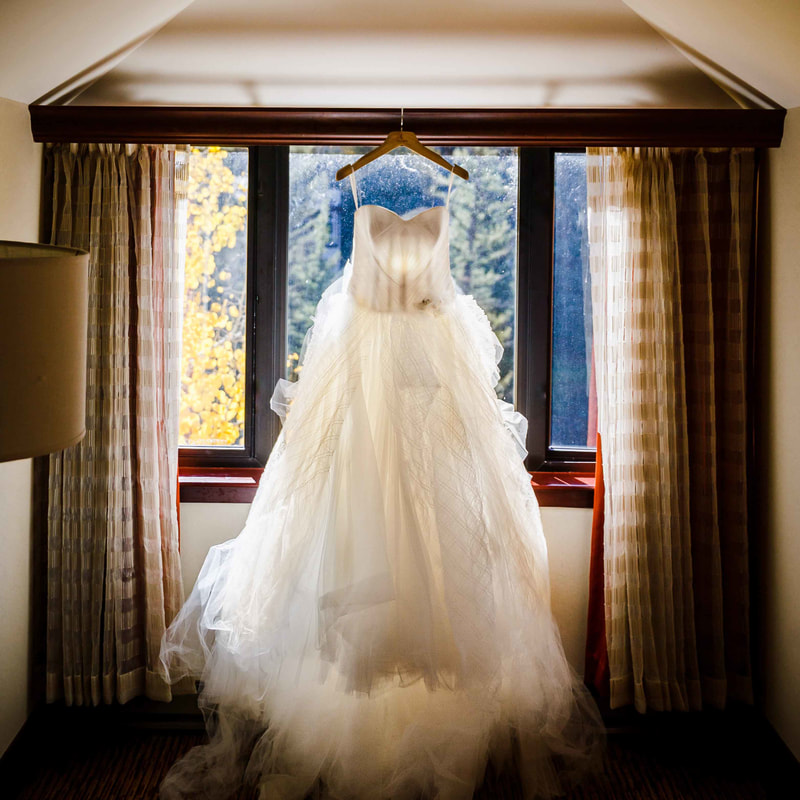 Vail wedding planner, fall wedding colorado, donovan pavilion wedding, wedding dress photo