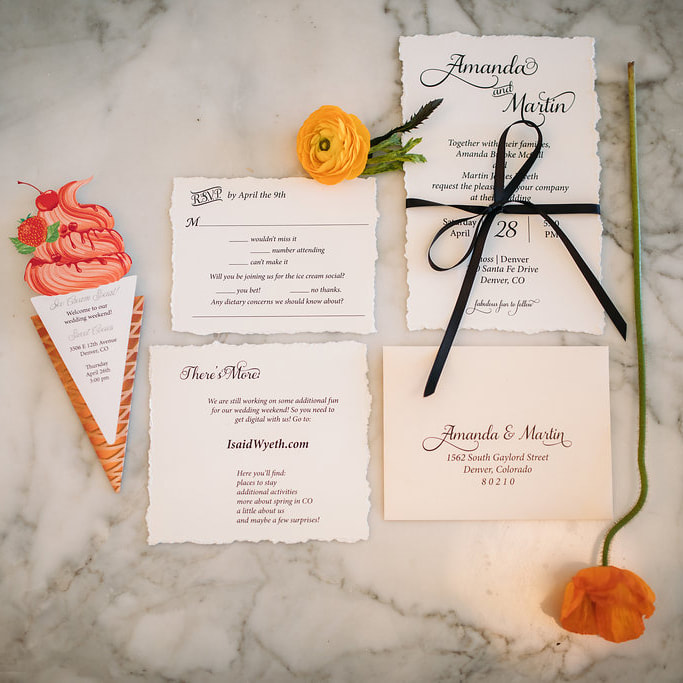 how to ask my bridesmaids, bridal shower, denver wedding planner, ice cream social