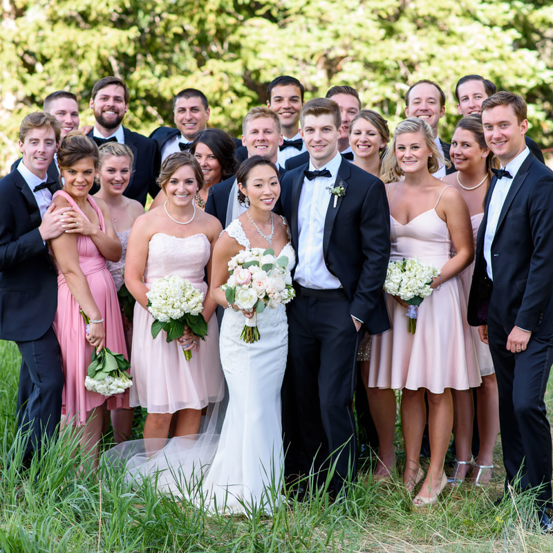 Wedding party photos, allie's cabin wedding planner, summer wedding inspiration, colorado wedding planner, sweetly paired weddings, beaver creek wedding planner